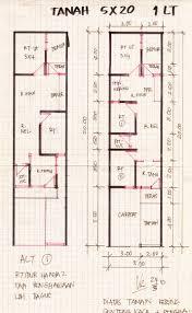 desain rumah minimalis ukuran 5×20